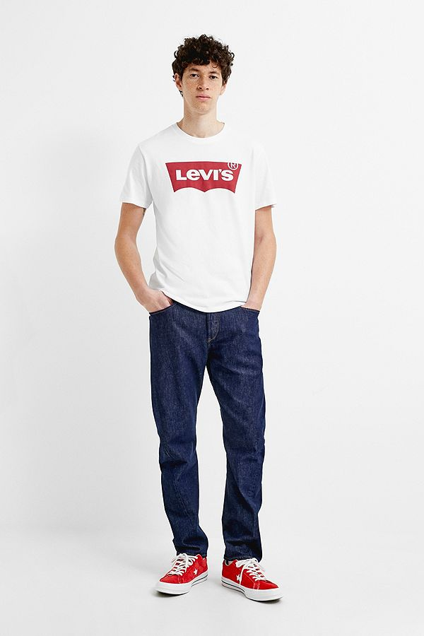 Slide View: 1: Levi's Batwing White T-Shirt