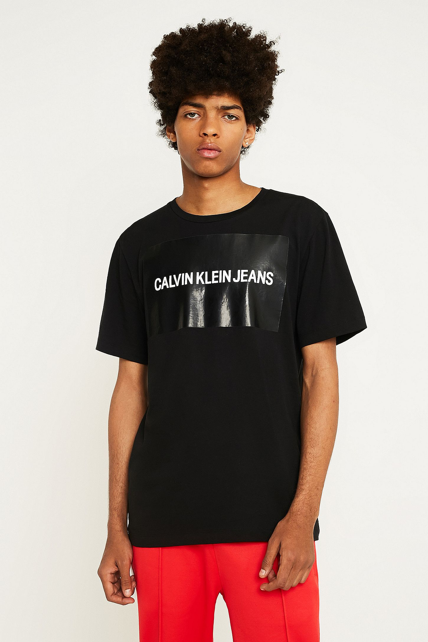 7da99b979220 Calvin Klein Jeans Institutional Box Logo Black T-Shirt. Click on image to  zoom. Hover to zoom. Double Tap to Zoom