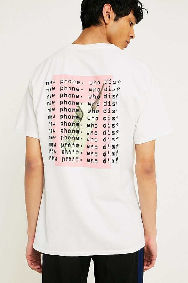 17301dc0 UO Who Dis? T-Shirt | Urban Outfitters UK
