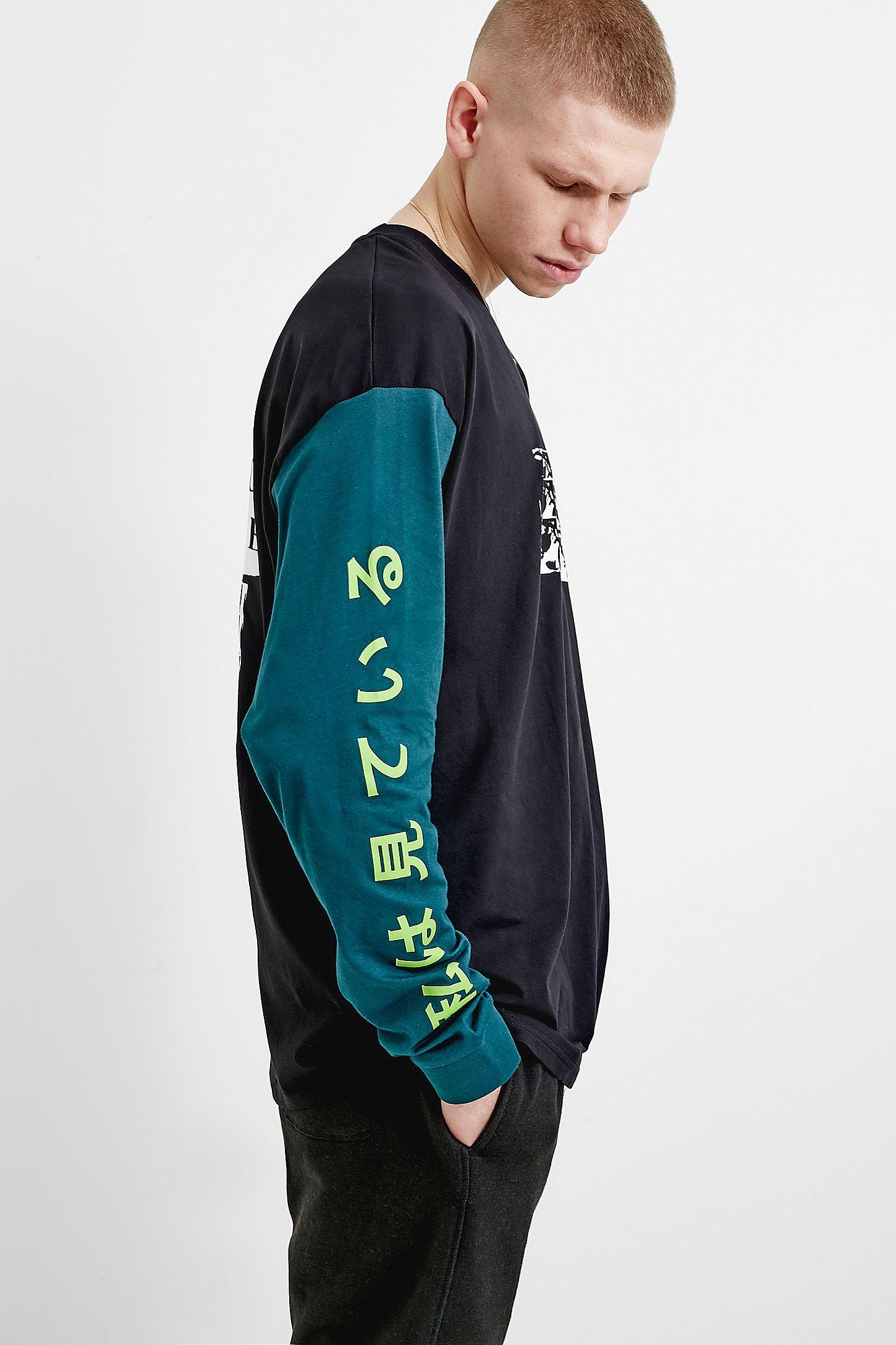 fbc609a04e62ed UO Cut and Sew Allover Skate Print Long-Sleeve T-Shirt | Urban ...