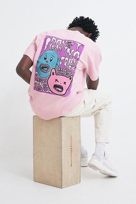 d6d39013d4c8 UO Cartoon Poster Pink T-Shirt