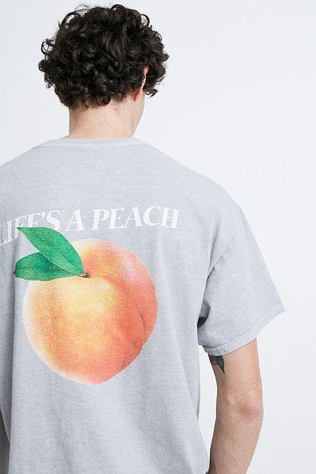 63afc7b79b18 UO Life Is a Peach Grey T-Shirt