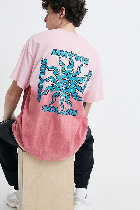 6dc102e01f34a8 UO Solaris Pink Dip Dye T-Shirt