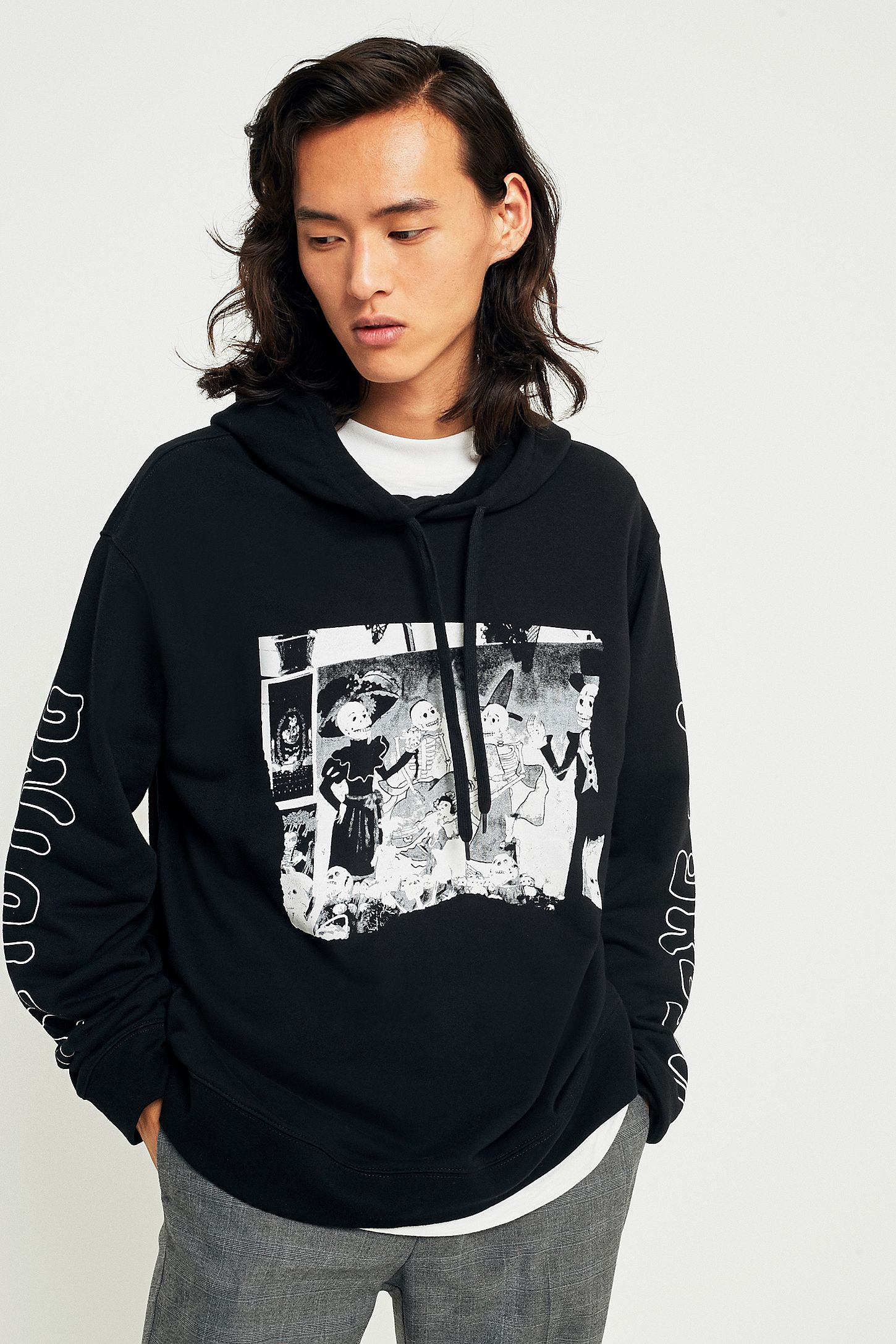f170b4587 Cheap Monday Skull Party Black Hoodie | Urban Outfitters UK