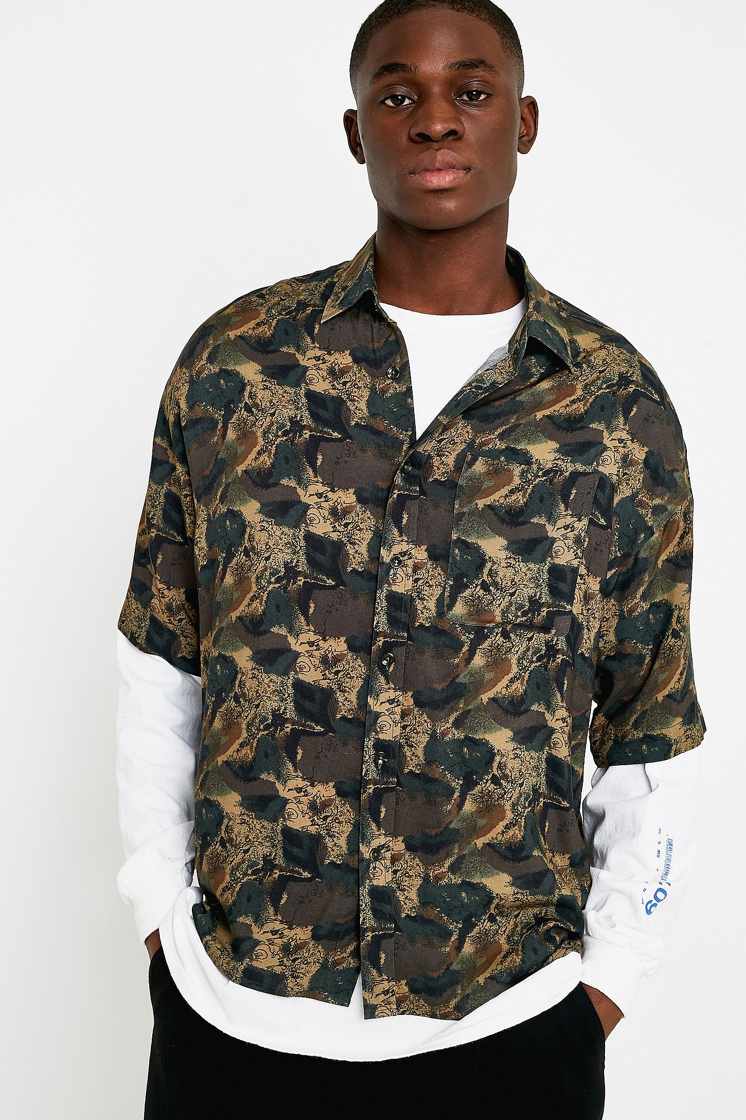 e010260ea5c Loom Camo Viscose Short-Sleeve Shirt