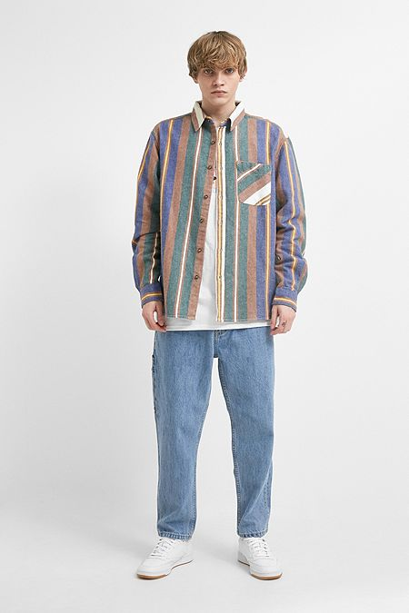 1d1f9c1663201 UO Herringbone Stripe Long-Sleeve Shirt