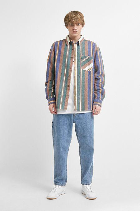 475f589c5f4 UO Herringbone Stripe Long-Sleeve Shirt