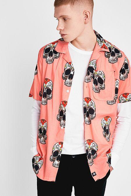 5f31a23b31 Dickies Blossvale Skull Print Pink Shirt