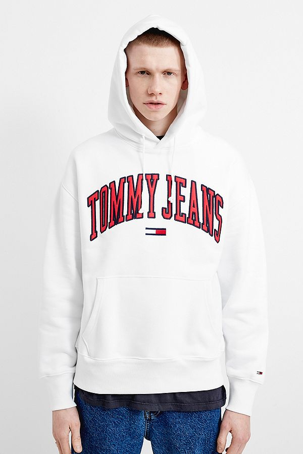c7b5f4a69 Tommy Jeans Collegiate White Hoodie | Urban Outfitters UK