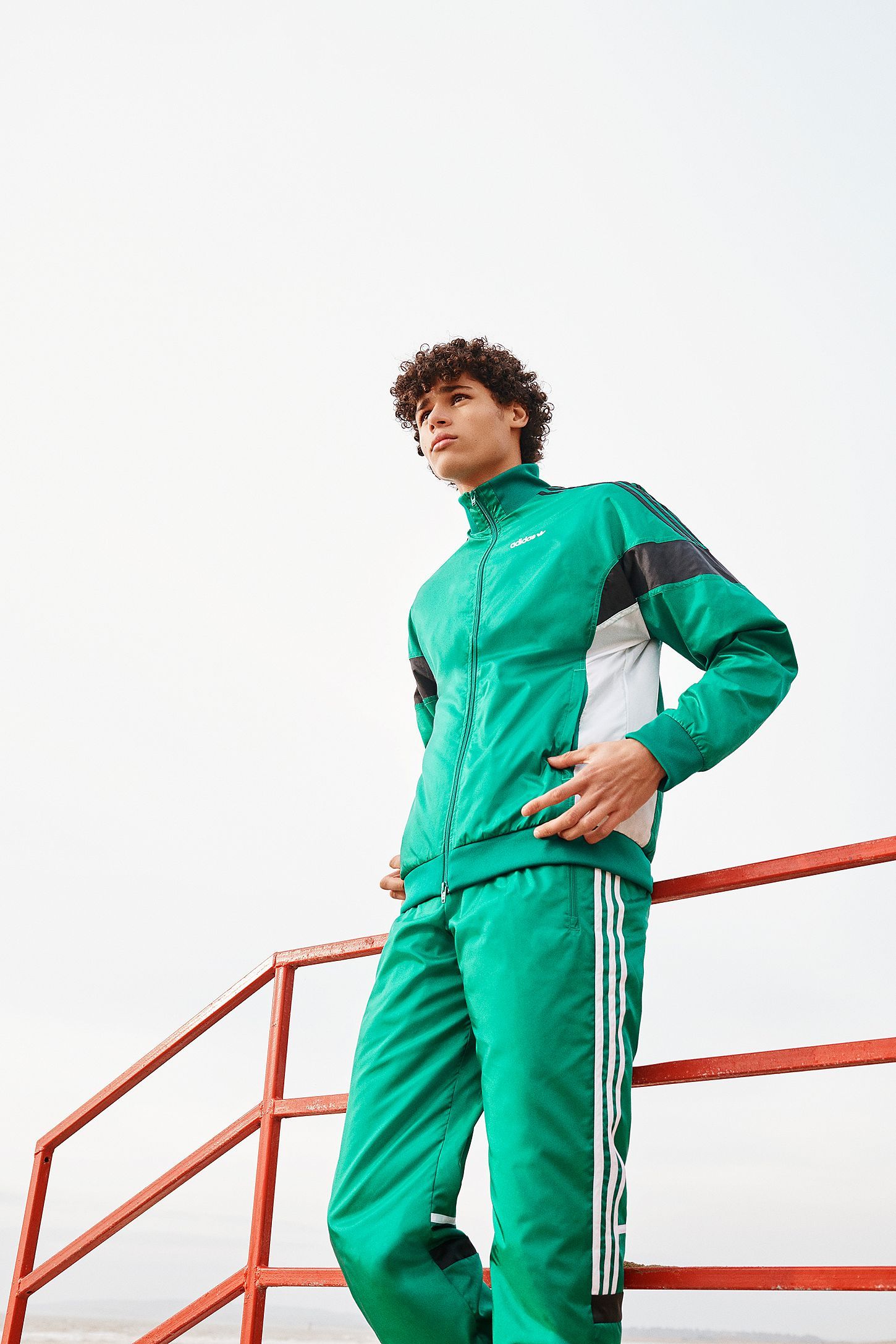 uk availability quality how to buy adidas Originals Challenger Sub Green Track Jacket