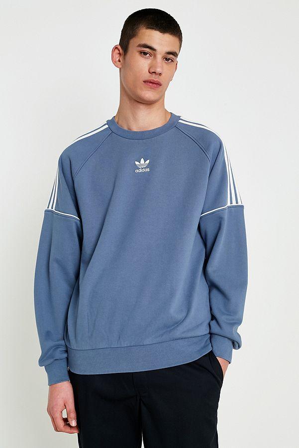 adidas Originals 3 Stripe Raw Steel Pipe Sweatshirt