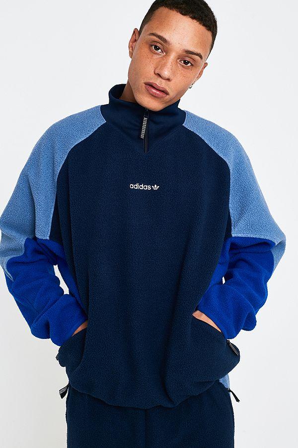"""adidas – Jacke """"EQT"""" aus Polarfleece in Marineblau mit Reißverschluss"""
