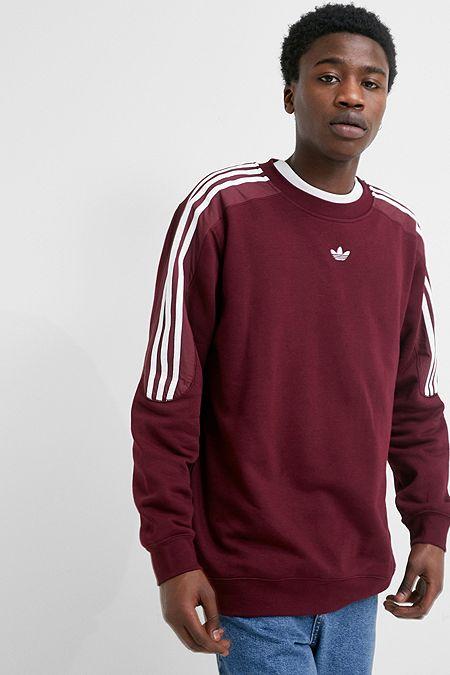0071ee564f40 adidas Radkin Burgundy Crew Neck Sweatshirt