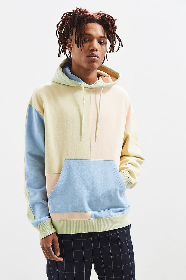 46342b97 UO Pastel Colourblock Hoodie | Urban Outfitters UK