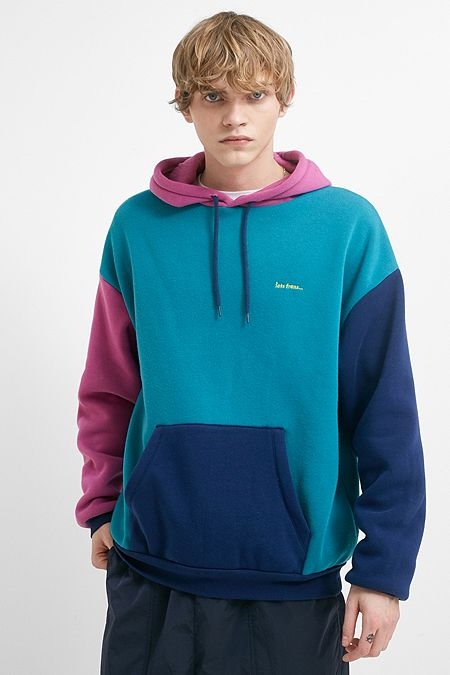 121bf7cc0b9 iets frans… Blue and Magenta Colour Block Hoodie