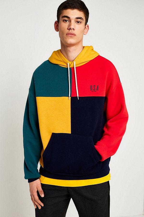 08de41ce UO Colourblock USA Hoodie | Urban Outfitters UK