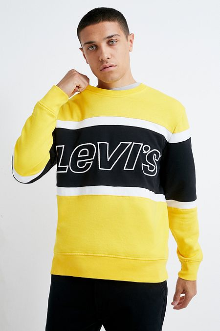 0833d5d90 Levi s Yellow Colourblock Crew Neck Sweatshirt. Quick Shop