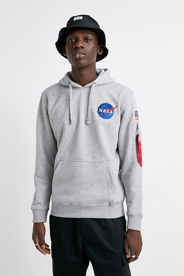 Alpha Industries Space Shuttle Grey Hoodie