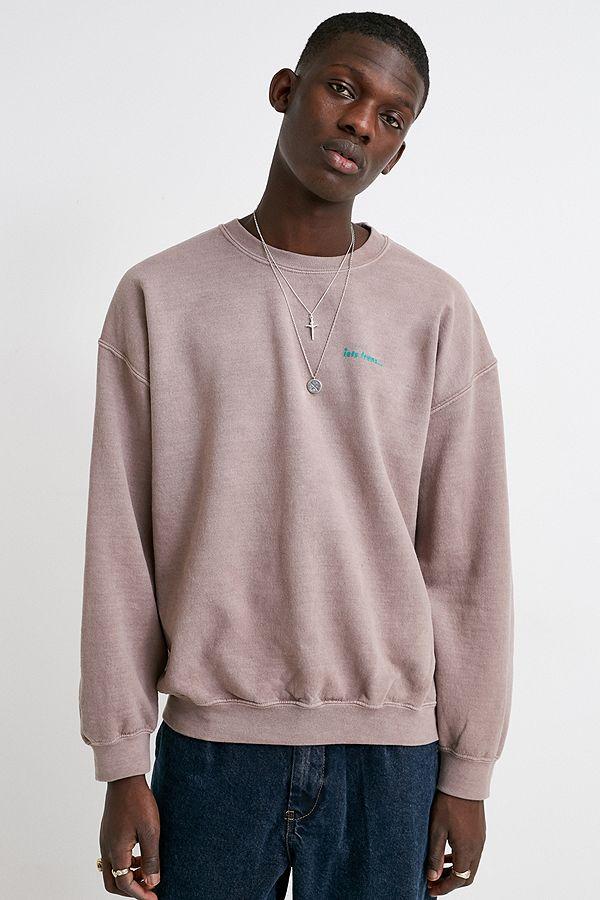 iets-frans…---sweatshirtras-du-cou-surteintmarron by iets-frans