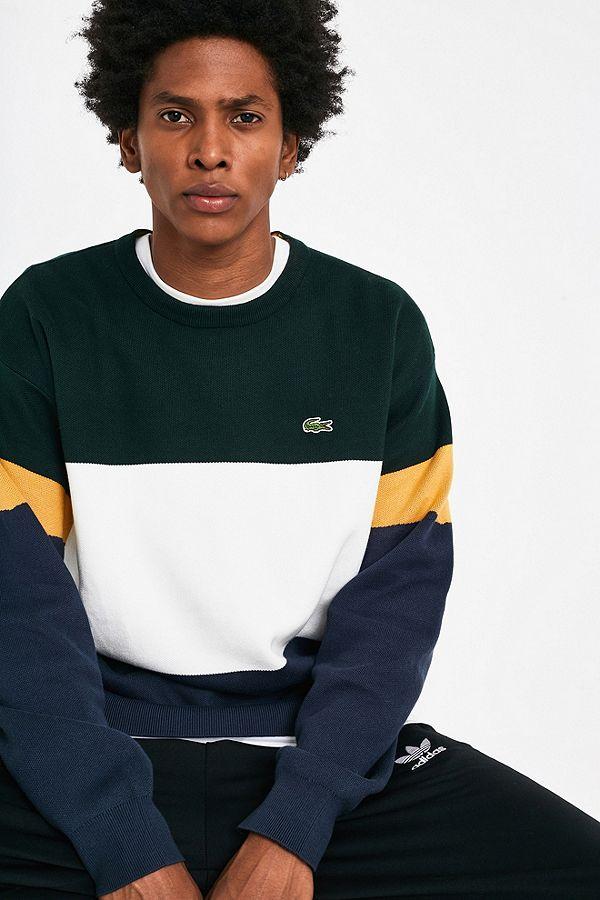 19f2f6f22e Lacoste SPORT Colourblock Navy Fleece Sweatshirt | Urban Outfitters UK