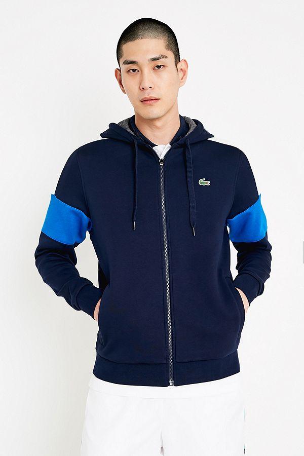 6318e65f98 Lacoste - Sweat à capuche SPORT bleu marine zippé | Urban Outfitters FR