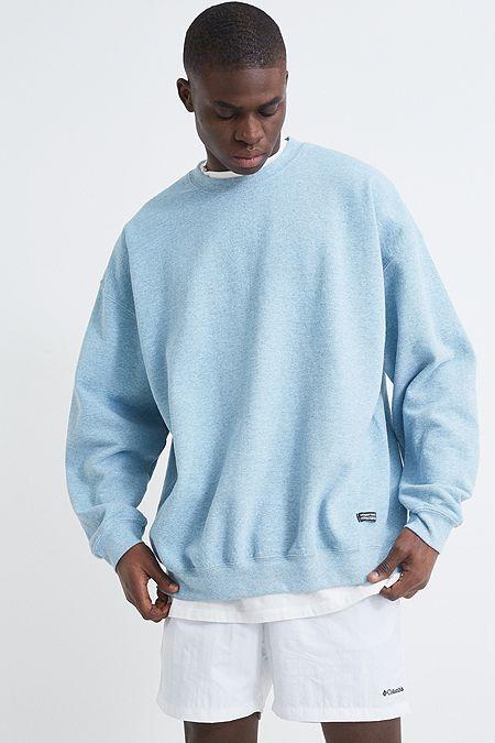 8a4349b9af Urban Outfitters – Überfärbtes, meliertes Sweatshirt in Blau