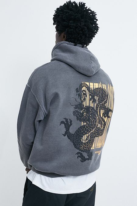 4c2ed78467a UO Dragon Washed Black Hoodie