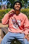 """UO – Sweatshirt """"Peace Dog"""" in Korallenrot"""