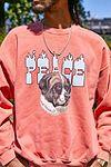 """UO – Sweatshirt """"Peace Dog"""" in Korallenrot #3"""