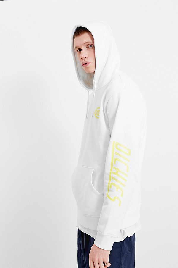 top-rated cheap where to buy exquisite style Dickies UO Exclusive White and Yellow Hoodie