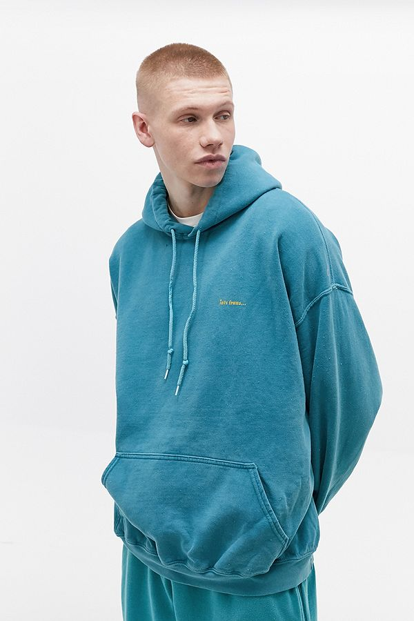 Iets Frans… Overdyed Teal Hoodie by Iets Frans...