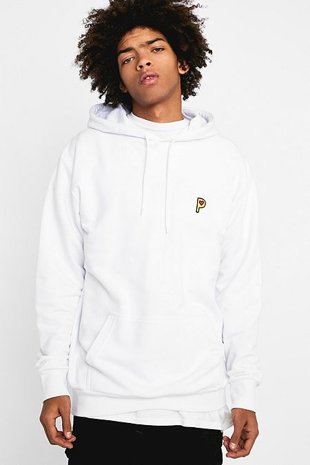 dc415eb20546 Post Details Embroidered P White Hoodie