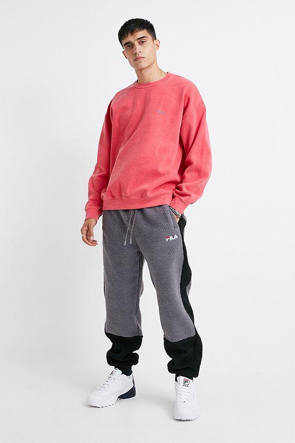chercher remise chaude acheter populaire FILA Black and Grey Colourblock Fleece Joggers