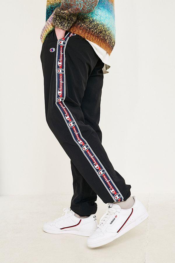 ea66870d61bb Slide View  2  Champion Corp Logo Crinkle Black Track Pants