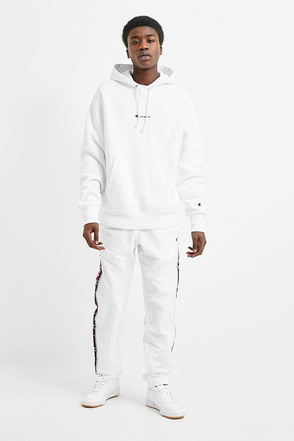 2c502419 Champion Logo Tape White Nylon Track Pants | Urban Outfitters UK