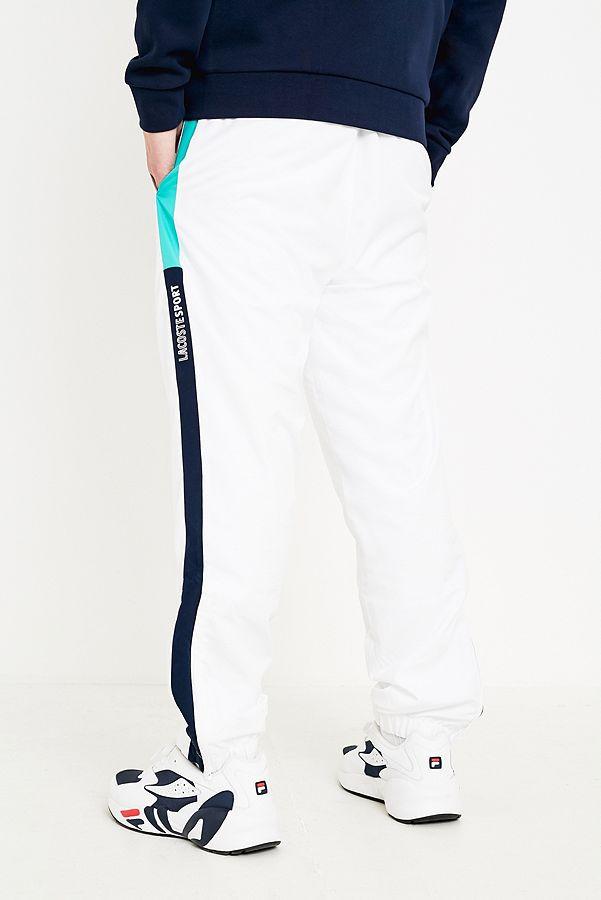1f1772190d Slide View: 3: Lacoste SPORT - Pantalon de survêtement à bandes blanc