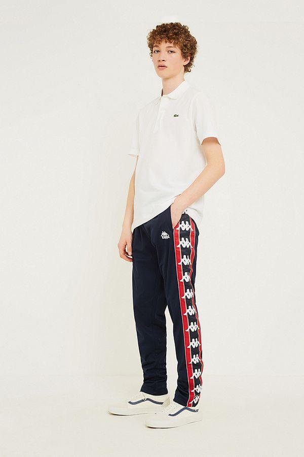 c6e3df8068 Kappa Astoria Navy Logo Track Pants   Urban Outfitters UK