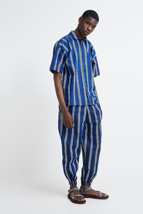 6c65f3ba Mojo Kojo Blue Printed Trousers | Urban Outfitters UK