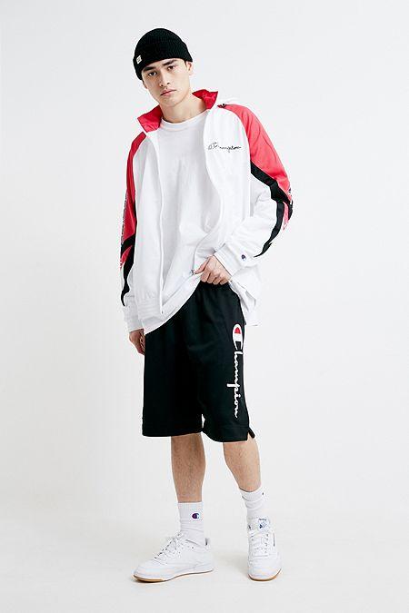 02520df94f0d Champion Logo Black Mesh Shorts
