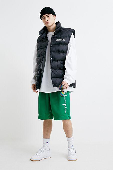 2c2156252c37 Champion Logo Green Mesh Shorts. Quick Shop