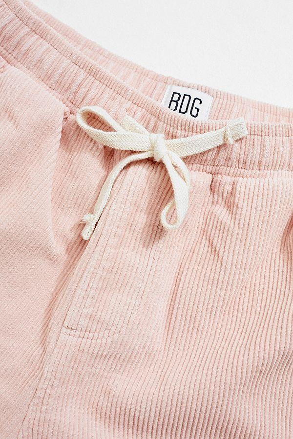 fd0f5fa79df8 Slide View  2  BDG Pink Corduroy Drawstring Shorts