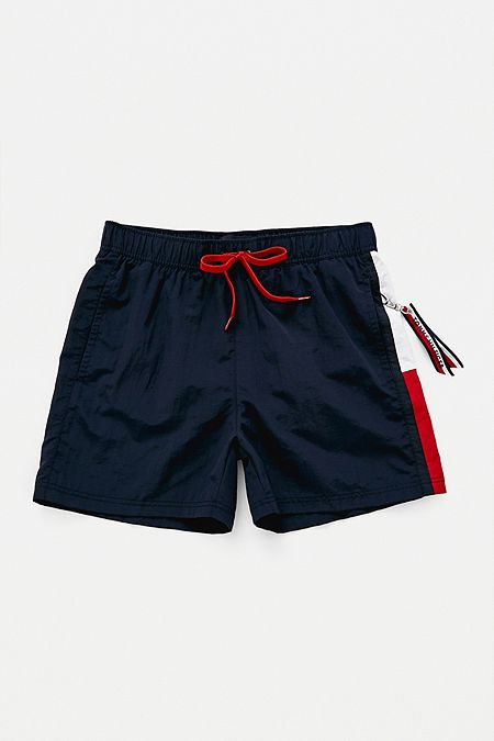 8725d164165b5 Tommy Hilfiger Side Flag Navy Swim Shorts