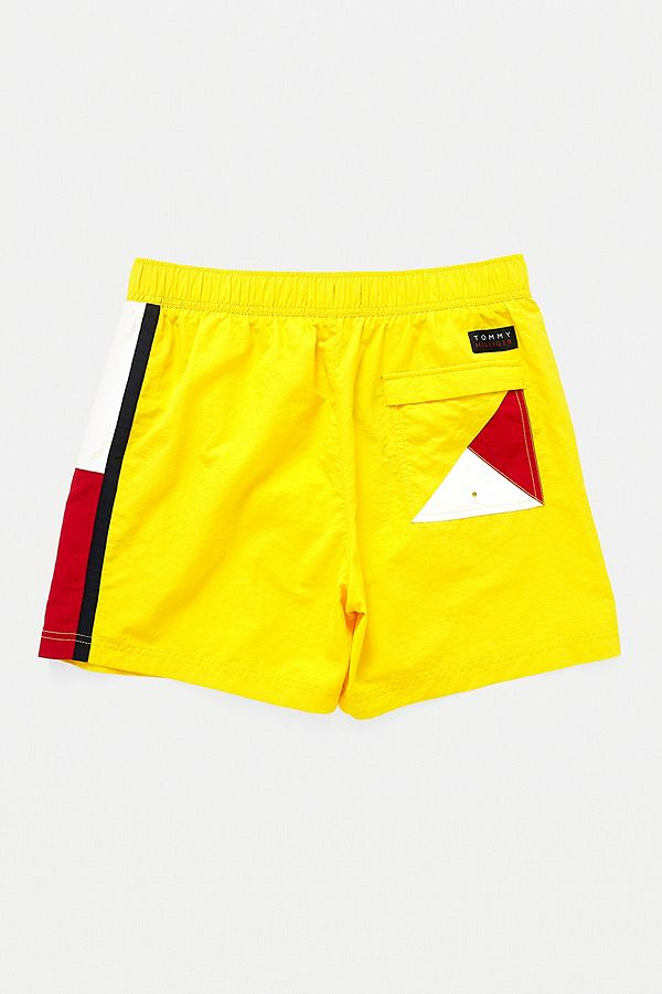d86af87b01 Tommy Hilfiger Side Flag Yellow Swim Shorts | Urban Outfitters UK
