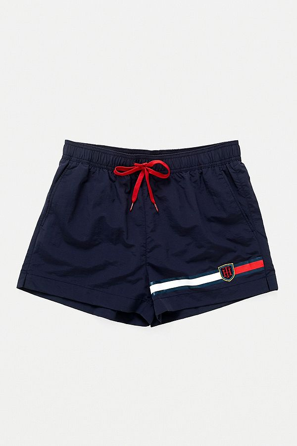 88ce82dcf0a53 Tommy Hilfiger Crest Logo Navy Swim Shorts | Urban Outfitters UK