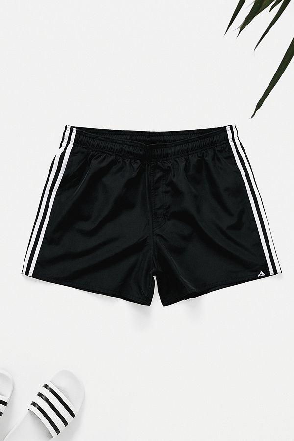 5052cada7c adidas 3-Stripe Black Swim Shorts | Urban Outfitters UK