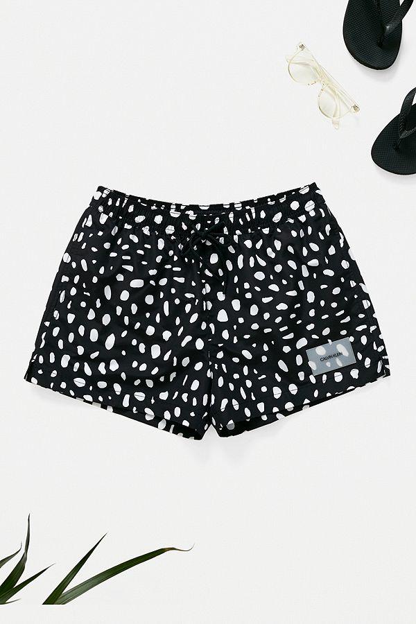 4728c121b3 Calvin Klein Black Polka Dot Swim Shorts | Urban Outfitters UK