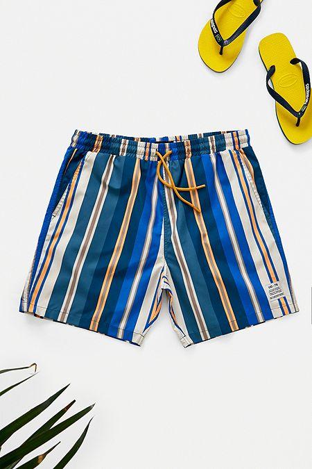 ab714318a346 UO Blue Stripe Swim Shorts