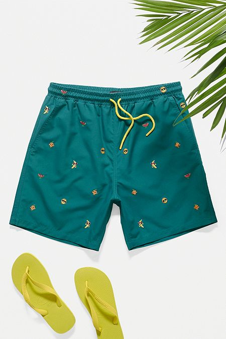 5a5a40d824ae7 Men's Swim Shorts | Printed Swimming Trunks | Urban Outfitters UK