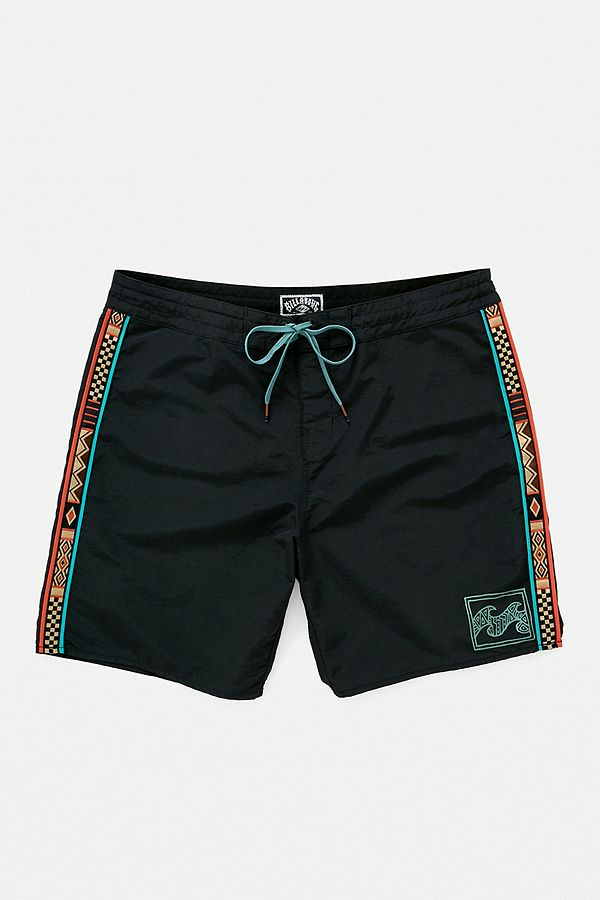 f5a7bcc35f Billabong Atlas Black Jacquard Swim Shorts | Urban Outfitters UK