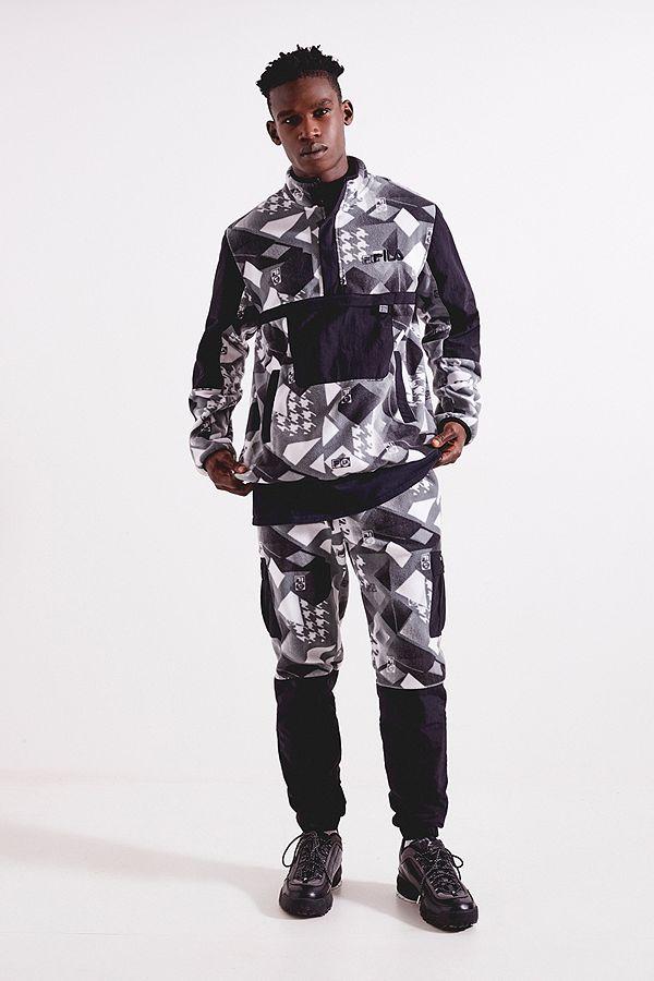 18d601a7296b FILA X Liam Hodges Technical Fleece Jacket   Urban Outfitters UK